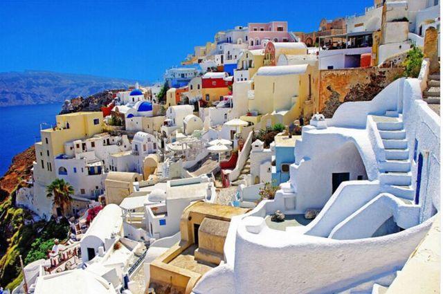 Греция Эгейское Море деревянные головоломки 1000 шт. ersion бумаги головоломки белый карты взрослых детей образовательные игрушки