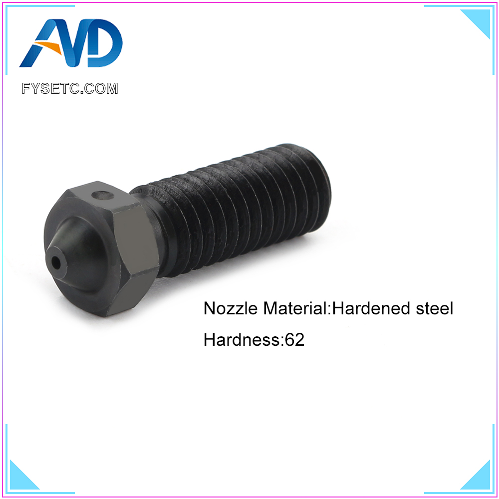 2pcs Volcano Hardened Steel Nozzles For High Temperature 3D Printing PEI PEEK Carbon Fiber Filament For E3D Volcano Hotend2pcs Volcano Hardened Steel Nozzles For High Temperature 3D Printing PEI PEEK Carbon Fiber Filament For E3D Volcano Hotend