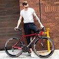 Новый бренд шоссейный велосипед углеродное волокно рама 16/18/20/22 скорость 700CC колесный гоночный велосипед велосипедный спорт на открытом воз...