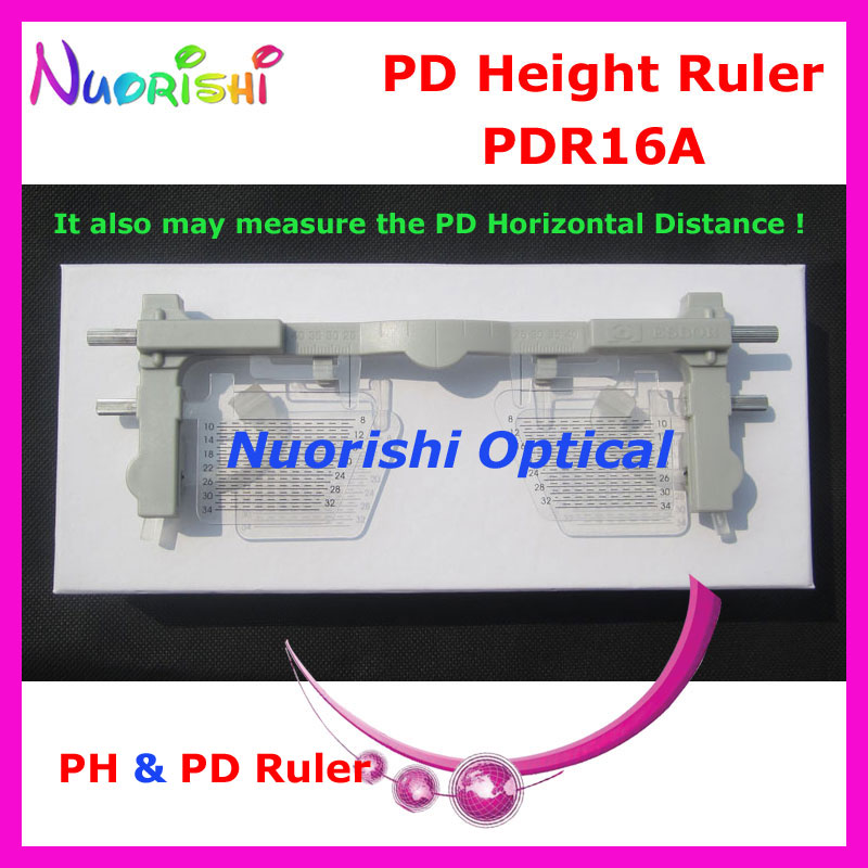 Ophthalmic Pupil Height Ruler PH PD Ruler Meter Measurer may measure Pupil Height and Horizontal Distance PDR16A Free Shipping adjustable ruler measure rc car height