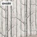 Черный, белый цвет береза обои для спальни современный Дизайн гостиная стены рулон бумаги деревенский лес Вудс обои - фото