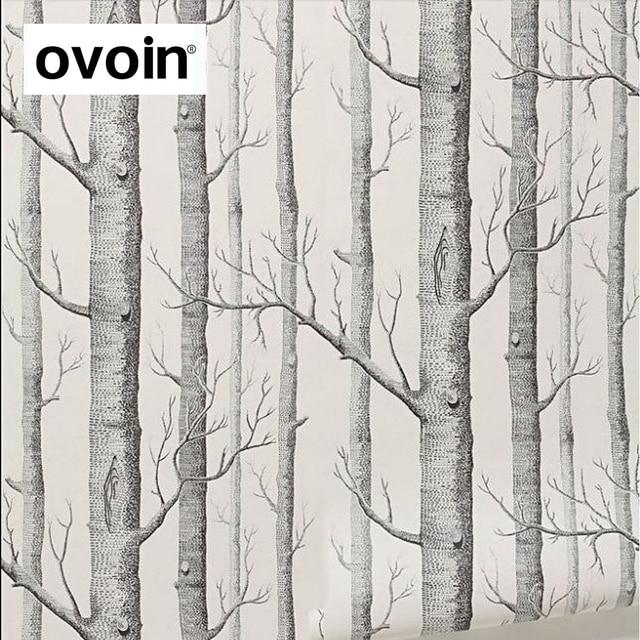 Schwarz Weis Birke Baum Tapete Fur Schlafzimmer Moderne Design Wohnzimmer Wand Papier Rolle Rustikalen Wald Woods