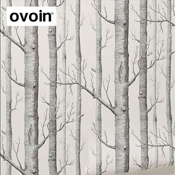 Black White Birch Tree Wallpaper For Bedroom Modern Design Living Room Wall Paper Roll Rustic Forest