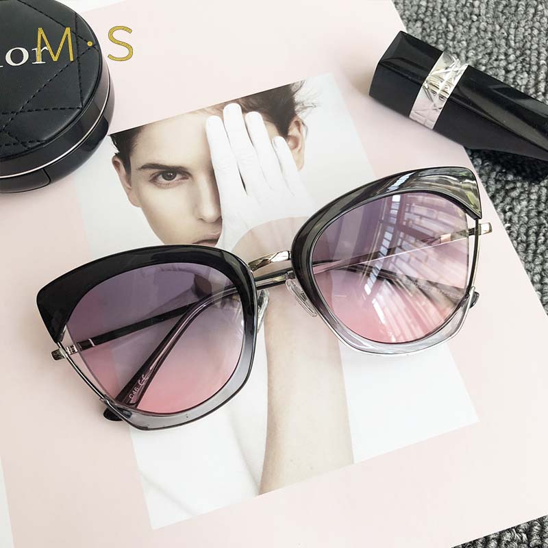 MS 2018 Fashion Sunglasses Women Brand Designer Vintage Sun glasses Female Cat Eye Glasses For Women Eyewear sunglasses