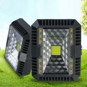 Solar Powered COB LED floodLight Dimmable 3 Modes Portable USB Rechargeable Hanging Solar Wall Lamp For Lawn Street Yard