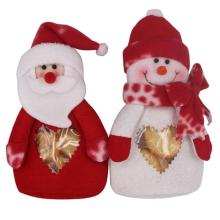 1 pair Santa Claus Snowman Candy Bag PVC Home Christmas Gifts Bag
