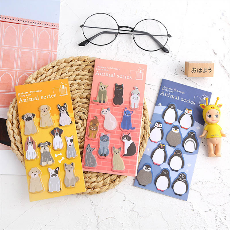 Kawaii Animals Memo Pad Memo Sticky Note Paper Sticker Student Stationery Pepalaria Office School Supplies