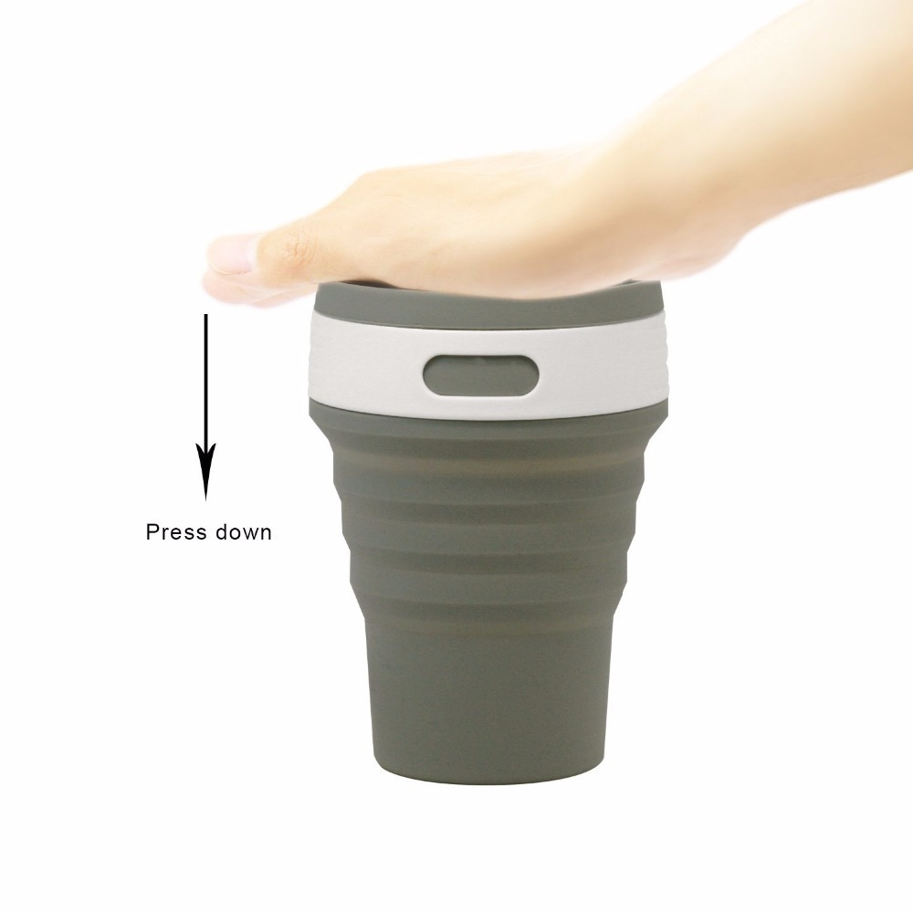 Coffee Cups Travel Collapsible Silicone Portable Tea Cup for Outdoors Camping Hiking Picnic Folding Office Water Mugs BPA Free cup