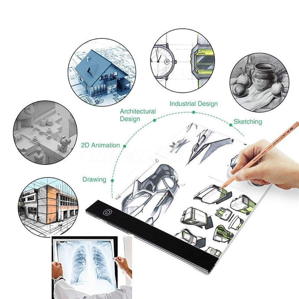 Diamond Painting A4 Ultra-Thin LED Light Box Tracer USB Power Cable  Dimmable Brightness Artcraft Tracing Light Pad Accessories