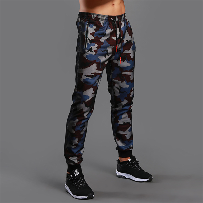 Pants Men Trousers Tights Sports-Leggings Fitness Camouflage Jogger Bodybuilding Gym