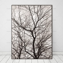 Wall Pictures Nordic Trees Winter Abstract for Living Room Art Decoration Pictures Scandinavian Canvas Painting Prints No Frame(China)
