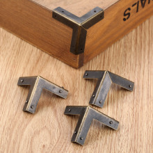 Furniture Hardware Cover Wine-Box-Protector Wooden-Box Corners Antique Bronze 33mm Triangle