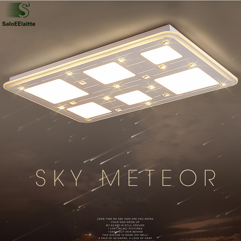 Thin Acrylic Rectangle Led Dimmable Ceiling Light Remote Control Luminaire Lamp Indoor Lighting Fixtures Lamparas