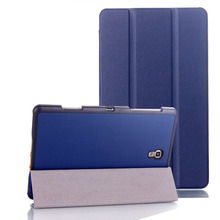 Dla Samsung Galaxy Tab S 8 4 przypadku PU skóra Auto uśpienia Wake Up magnes pokrywa dla Samsung Tab S 8 4 SM-T700 T705 przypadku + rysik tanie tanio NoEnName_Null 9 7 Składany folio case Masz For Samsung Galaxy Tab S 8 4 SM-T700 SM-T705 Odporny na wstrząsy Odporność na spadek