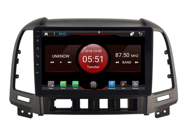 Elanmey top equipped 8 core 64G rom android 8 1 car radio for HYUNDAI Santa Fe