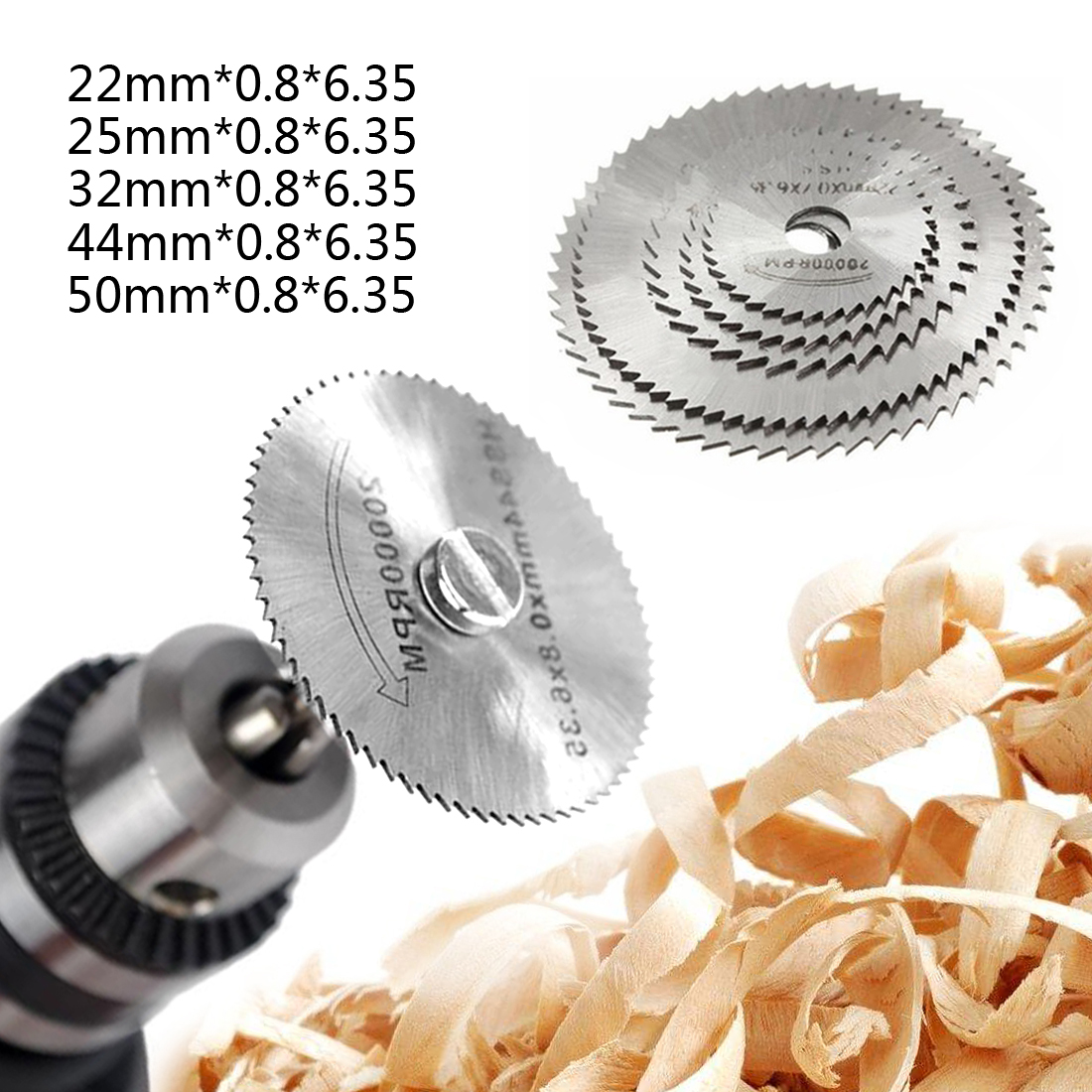 22-50mm Mini HSS Circular <font><b>Saw</b></font> <font><b>Blade</b></font> <font><b>Jig</b></font> <font><b>Saw</b></font> Rotary Tool For Dremel <font><b>Metal</b></font> Cutter Power Tool Set Wood Cutting Discs Drill Mandrel image