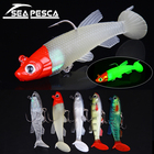 SEAPESCA 1pcs Soft Fishing Lure 80mm 13.2g Glowing Diving Silicone Worm Shad Pesca 5 Colors Artificial Fishing Bait ZB96