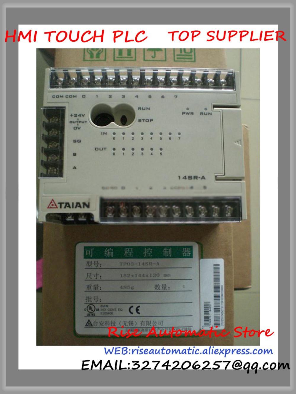 New Original PLC Programmable Logic Controller TP03-14SR-A PLC 100-240VAC 24VDC 8 input Relay 6 output 1 COM new original programmable logic controller module fx3g 14mr plc 100 240vac main unit