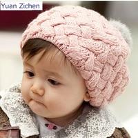 Hot Kids Girls Baby Handmade Hat Crochet Knitting Beret Hats Caps Cute Winter Beanie Hats For