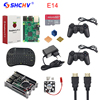 Raspberry Pi 3 Game Kit 16G SD Card Wireless Keyboard Game Controller Case Power Heat Sink