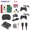 Raspberry Pi 3 Game Kit 16G SD Card Wireless Keyboard 2 Game Controller Acrylic Case Fan