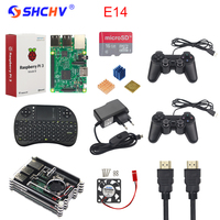 Raspberry Pi 3 Game Kit 16G SD Card Wireless Keyboard 2 Game Controller Acrylic Case Fan