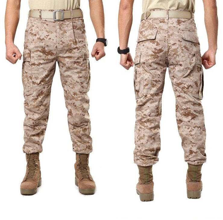 Mens desert Military Army Combat tactical pants with knee pads Camouflage  Camo fatigue cargo Trousers military pants for men-in Cargo Pants from Men s  ... 4ad959c860b2