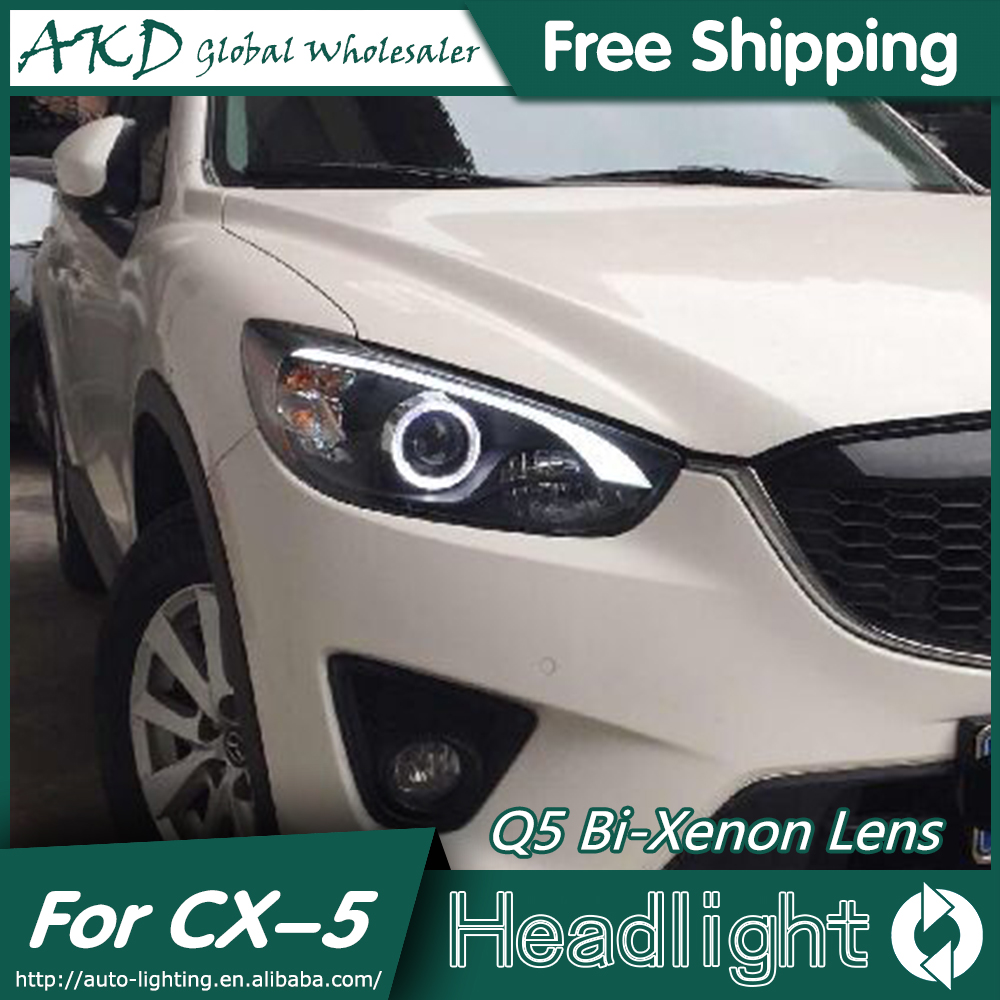 AKD Car Styling for Mazda CX-5 Headlights 2011-2015 CX5 LED Headlight DRL Bi Xenon Lens High Low Beam Parking Fog Lamp hireno car styling for toyo ta corolla 2011 13 headlights led super bright headlight drl xenon lens high fog lam