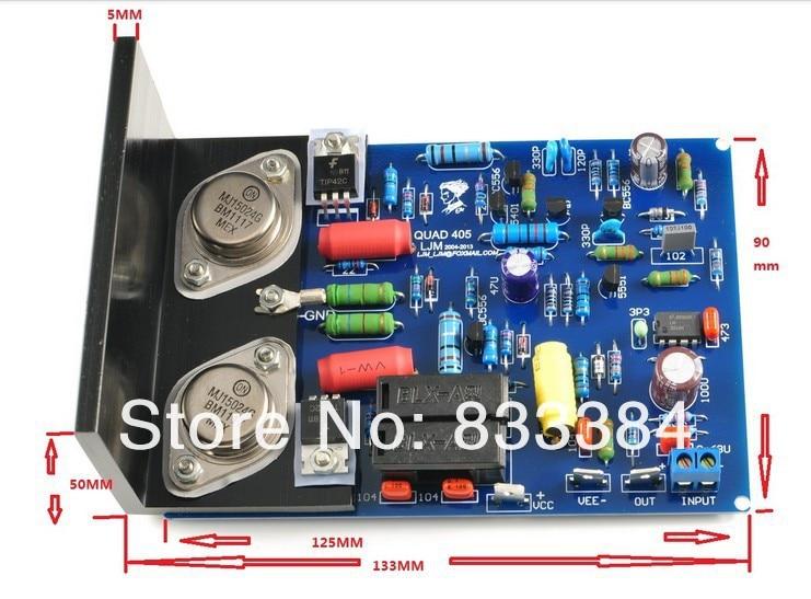 LJM QUAD405 CLONE MJ15024 100W+100W stereo completed board +heatsinkLJM QUAD405 CLONE MJ15024 100W+100W stereo completed board +heatsink