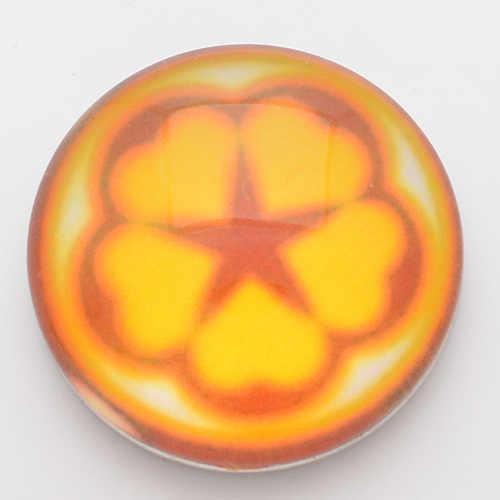 """18 מ""""מ הצמד כפתורים, הדפסה צהובה וזכוכית NC1726 מצליפה כיסוי עבור תכשיטי צמידי fit מצליפה ג 'ינג' ר מצליפה"""