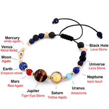Chakra Universe Planets Beads Bangles & Bracelets Fashion Jewelry Natural Solar System Energy Bracelet For Women or Men 2019