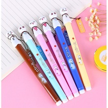 6 pcs/Lot Cute sunny wish doll gel pen for writing Black ink 0.38mm roller ballpoint pens Office material School supplies FB272