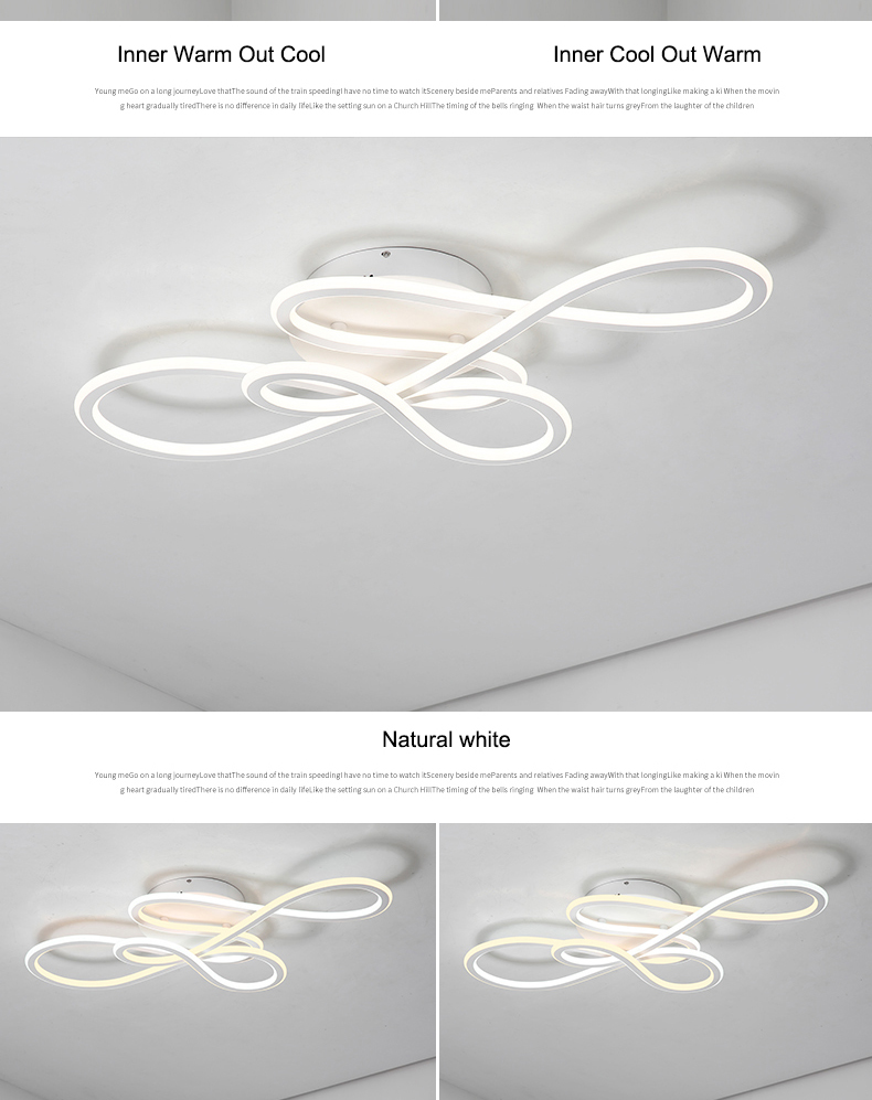 HTB1ETY5bo rK1Rjy0Fcq6zEvVXaI NEO Gleam Double Glow modern led ceiling lights for living room bedroom lamparas de techo dimming ceiling lights lamp fixtures