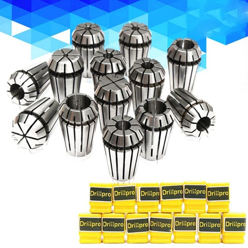 13pcs ER20 Precision Spring Collet Set 1-13mm CNC Milling Lathe Tool ER20 Spring Collet Chuck