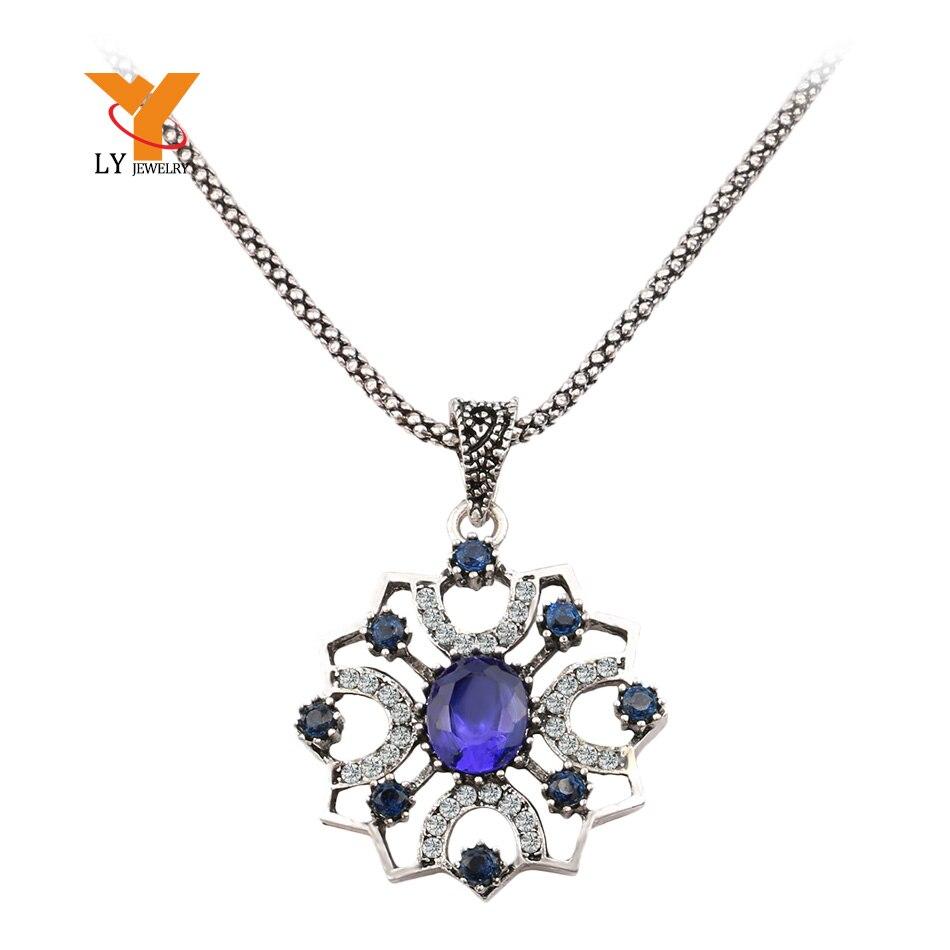 70a58977a7e0 Barato al por mayor moda flor Collares Colgantes 2014 vintage plata  plateada elegante estilo chino clásico encanto regalo de amor