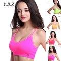 YBZ Brands Women Fitness Bra Shockproof Front Push Up Bra Wirefree Padded Brassiere Bra Seamless Crop Top Underwear B3950