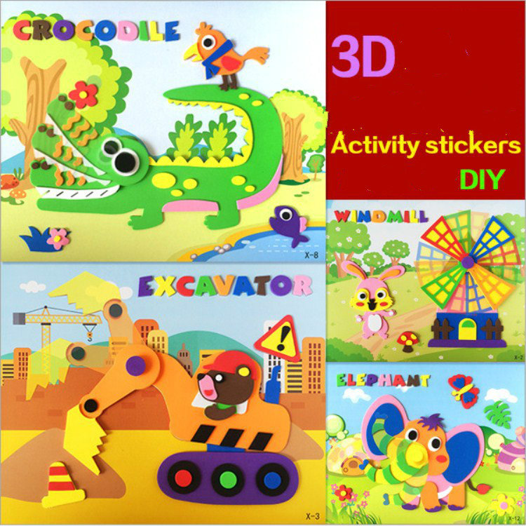 20 Pcs Lots Kids Craft Active Stickers Diy Arts And Crafts For Kids