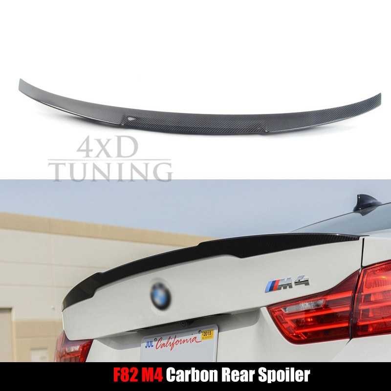 For BMW F82 M4 Carbon Fiber Rear Spoiler Trunk Wing 2-door Coupe 2014 2015 2016 2017 for mercedes w205 spoiler c class w205 c180 c200 c220 c250 c300 carbon fiber rear spoiler trunk wing 2014 2015 2016 c74 style