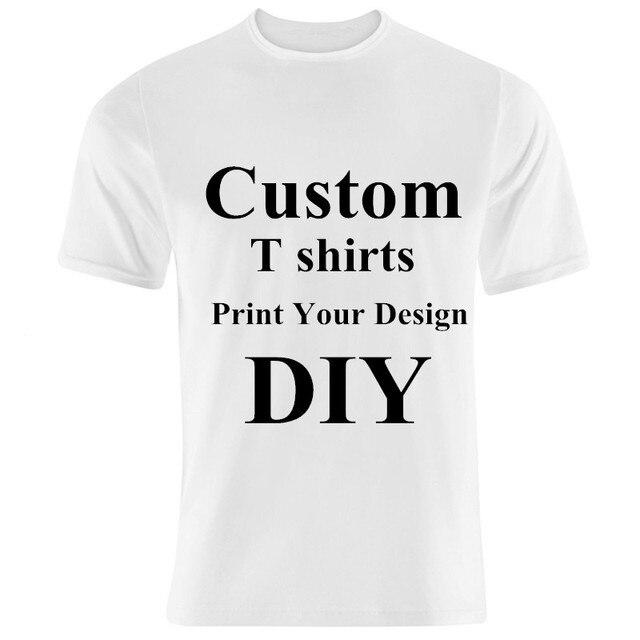 Men and Women Custom t shirts Men Print Your Design DIY T-shirts Women DIY  Tee Shirts Printing 40306c0517