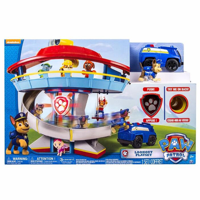 Genuine Paw Patrol Dog Patrol car toys Action Figures Patrulla Canina Patrol ambulance Car Parking Lot Toy Set Kids Toys Gifts new lps lovely toys animal cartoon cat dog action figures collection kids toys gifts