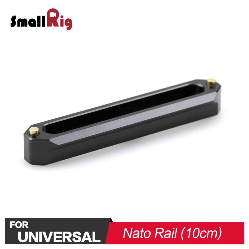 SmallRig DSLR Camera Quick Release Safety Nato Rail 10cm For Nato Handle EVF Mount Support 1134