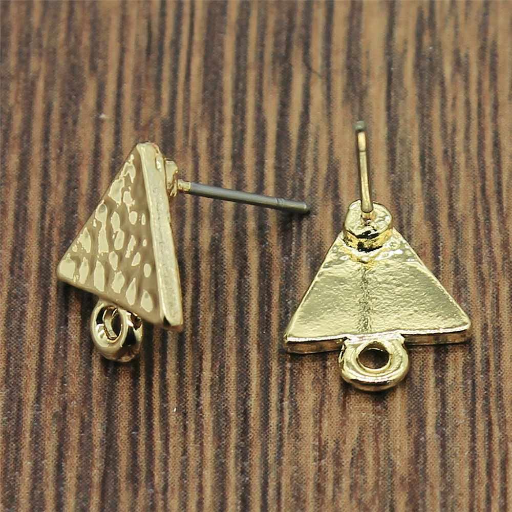2pcs/lot Ear Stud Jewelry Findings Earrings Making Accessories Golden Distorted Earrings Base Connectors Earring Making