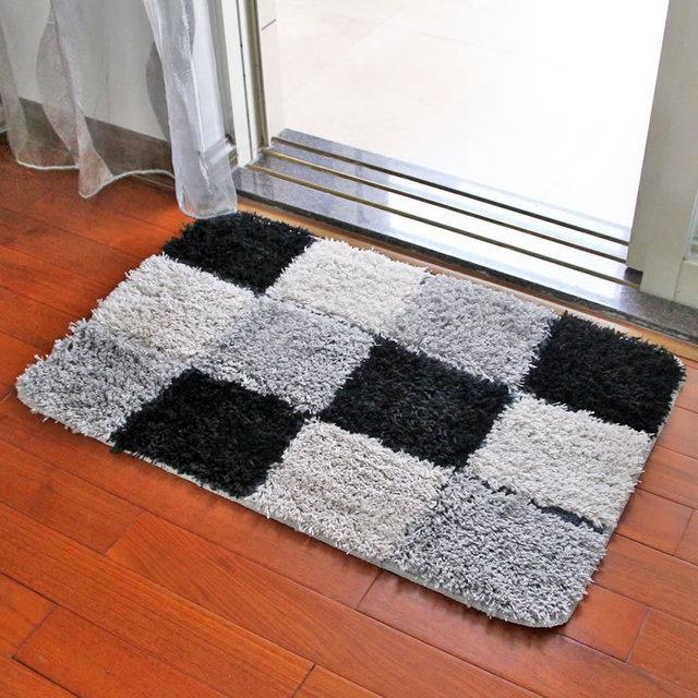 Doormat Water Absorption Rug Bathroom Mat Shaggy Memory Foam Bath