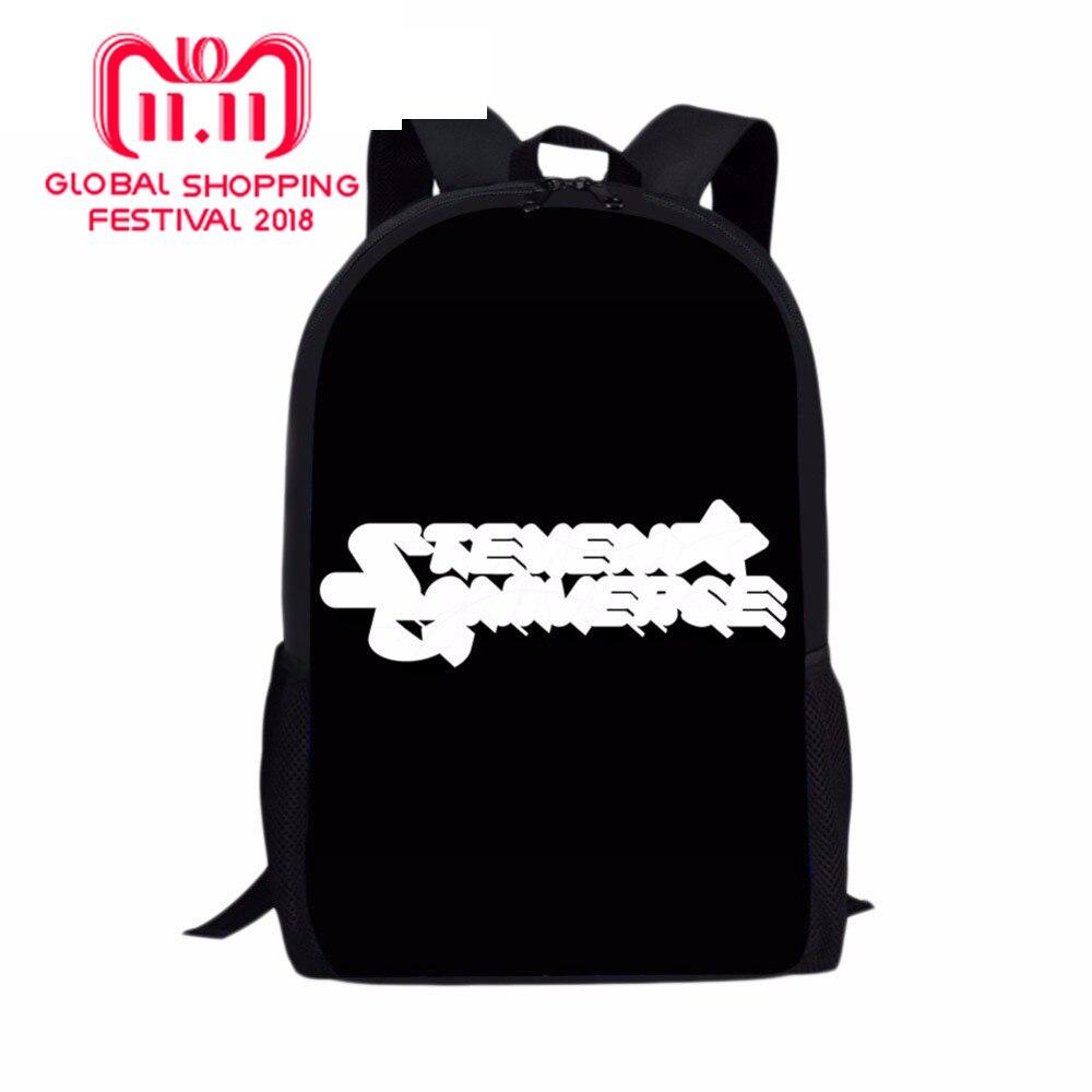 052765e02db2 steven universe LOGO Printed Pencil Case Backpack School Bag Lun box For Children  Kids Boy Act