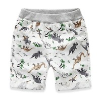 Loose Boys Shorts Summer Children Beach Wear Dinosaur Pattern Boys Bottom Pants 2 7Y Short Kids