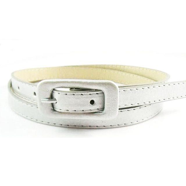 2015 Hot Fashion Women PU Thin Belt Waistband Female Straps Ladies Cummerbund  Thin Waistband 17 Color  Free Shipping