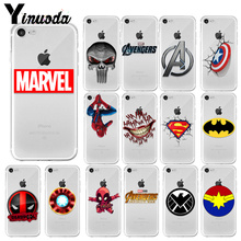 Yinuoda Marvel Avengers Captain America LOGO TPU Soft Silicone Phone Cover for Apple iPhone X XS MAX  8 7 6 6S Plus 5 5S SE XR
