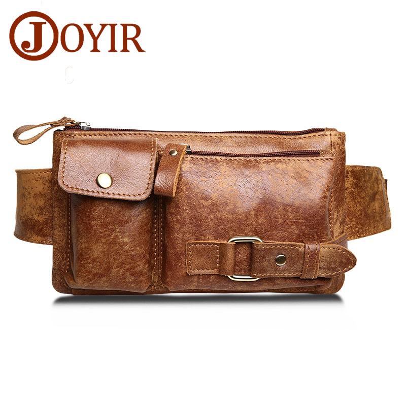 JOYIR Γνήσιο δερμάτινο τσάντα Messenger τσάντα Vintage Men τσάντα μέσης τσάντα δέρμα μέσης πακέτο Fanny πακέτο τσάντα τσάντα τσάντα Money Unisex τσάντα 8135