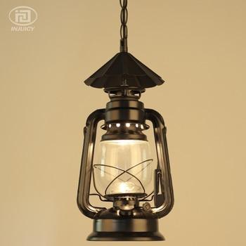 Vintage Loft Lantaarn Kerosine Opknoping Lampen Ijzer Glas Plafondlamp Industriële Hanglampen Cafe Bar Hal Restaurant Winkel