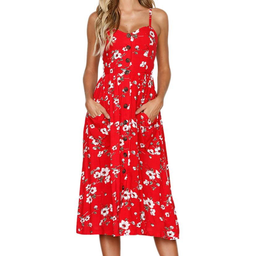 Free Shipping Bohemian Empire Dress Fashion Women Printing Buttons Off Shoulder Princess Dresses Vestidos female Cloth #AP7345